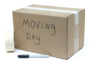 moving box from move into house